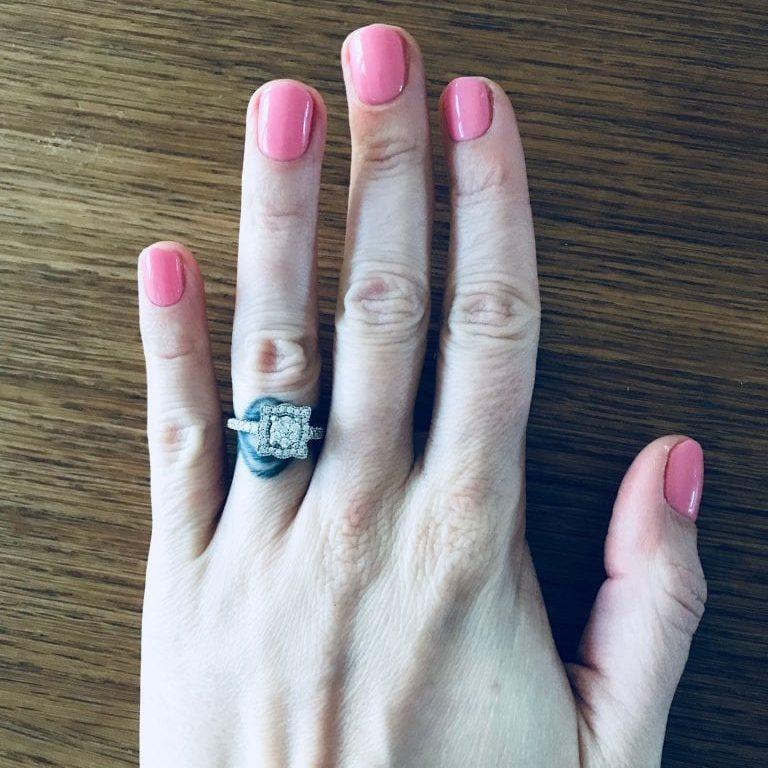 Nika; buying a diamond ring for herself