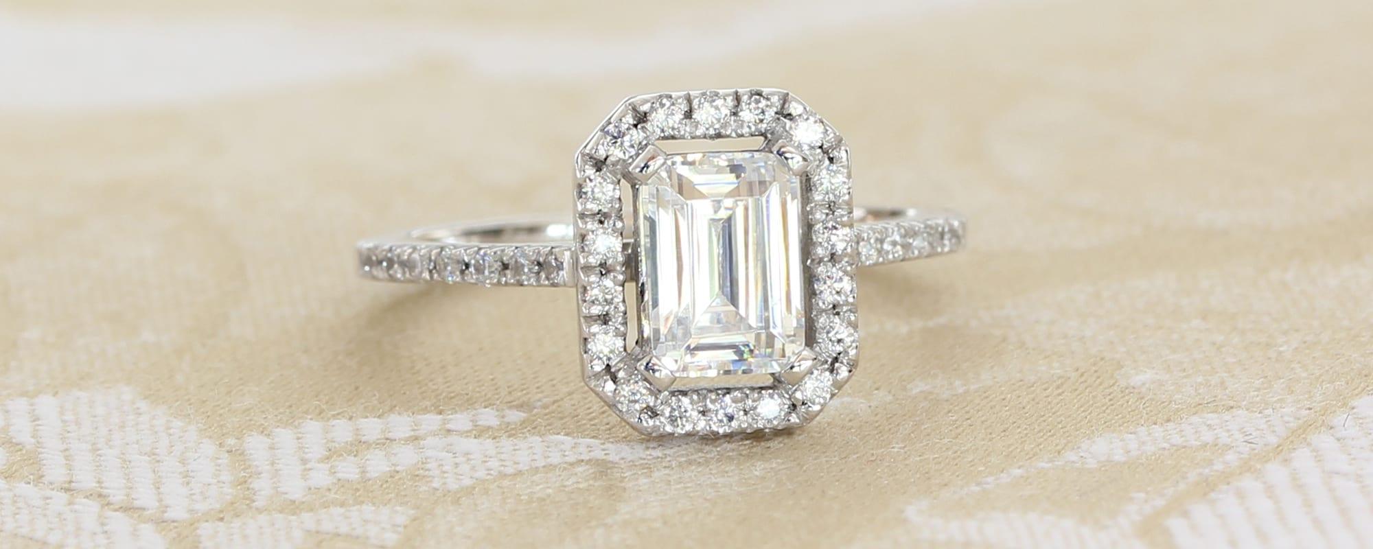 Bespoke Ethical Halo Diamond Engagement Ring