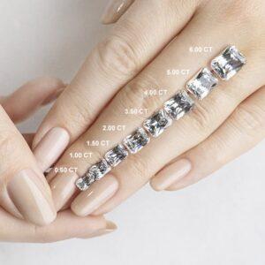 Radiant Cut Carat Weights - Lab Grown Diamonds & Fine Diamond Alternatives | Ethica Diamonds UK