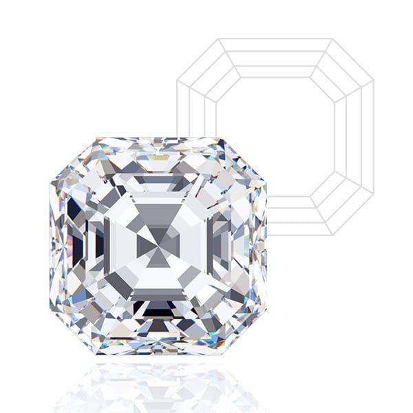 Asscher Cut - Lab Grown Diamonds & Fine Diamond Alternatives | Ethica Diamonds UK