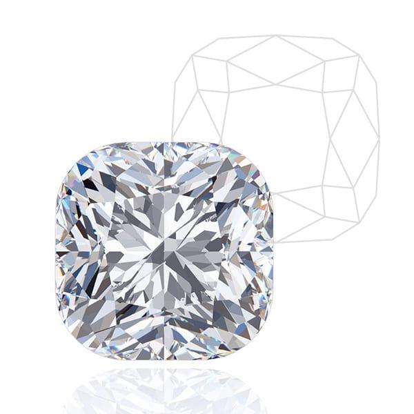 Cushion Cut - Award Winning Man-Made Diamonds | Ethica Diamonds UK