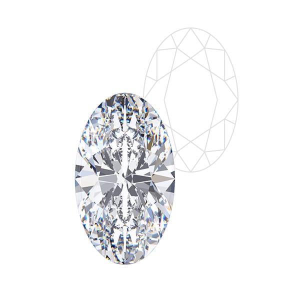 Oval Cut - Award Winning Man-Made Diamonds | Ethica Diamonds UK