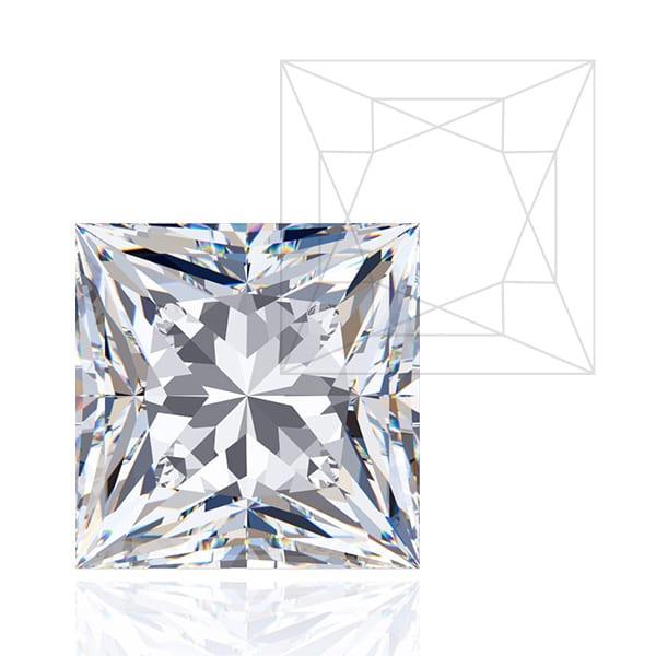 Princess Cut - Award Winning Man-Made Diamonds | Ethica Diamonds UK