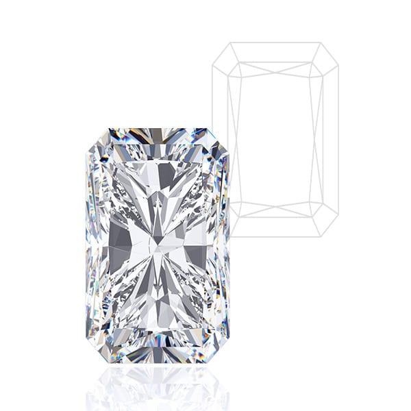 Emerald Radiant Cut - Award Winning Man-Made Diamonds | Ethica