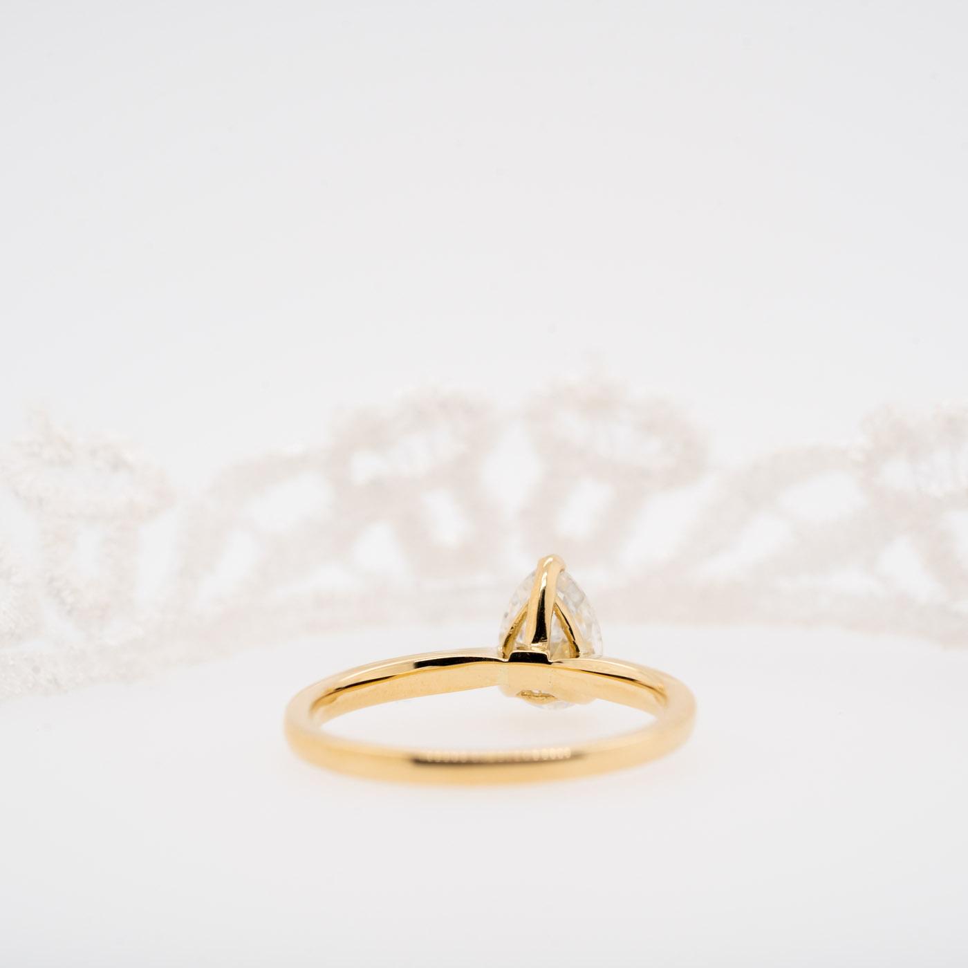 Pear Cut Diamond Engagement Ring | Ali | Ethica Diamonds UK