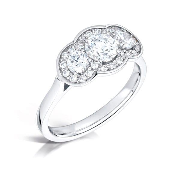 Unique Sustainable Diamond Trilogy Ring - Arabella