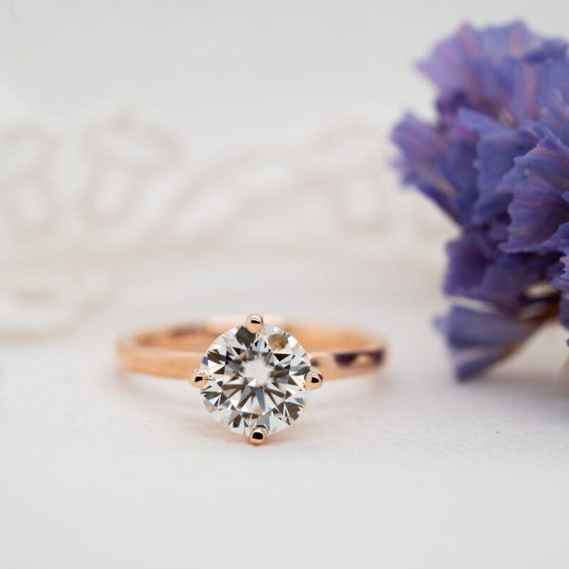 Solitaire Diamond Alternative Engagement Ring | Aria | Ethica Diamonds UK