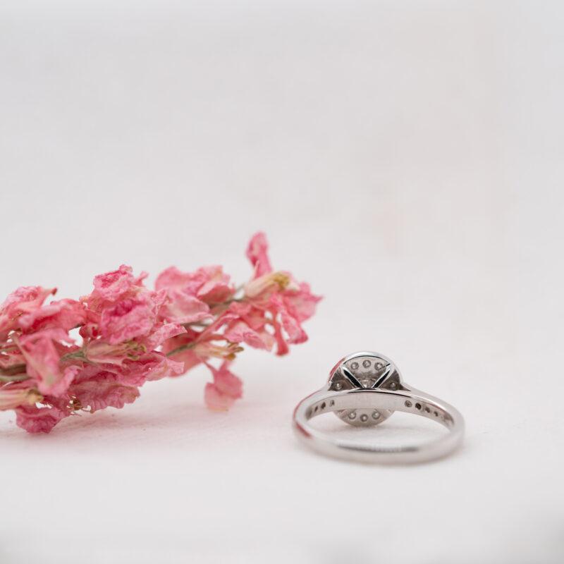 Ethical Halo Diamond Ring | Ava | Ethica Diamonds Cornwall UK