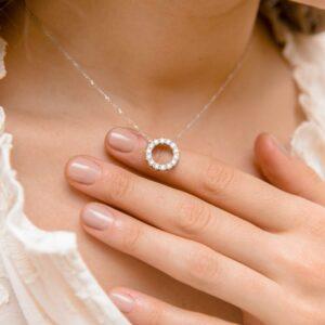 Ethica Diamond Pendant | Bianca | Ethica Diamonds Cornwall UK