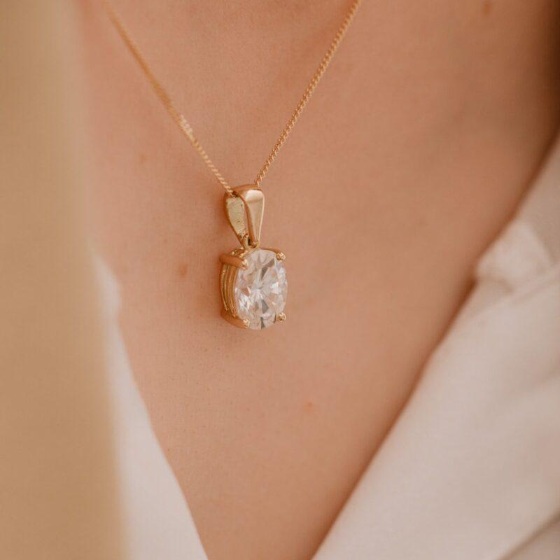 Man-Made Diamond Alternative Pendant   Calia   Ethica Diamonds