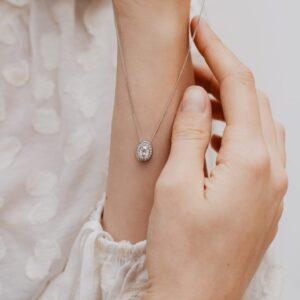 Earth Friendly Diamond Pendant | Carrie | Ethica Diamonds Cornwall UK