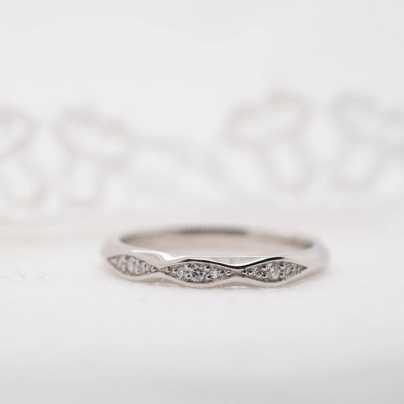 Lab Created Diamond Wedding Band | Celia | Ethica Diamonds Cornwall