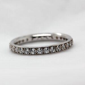 Ethical Grain Set Diamond Wedding Band - Charity Full Set 2.5mm