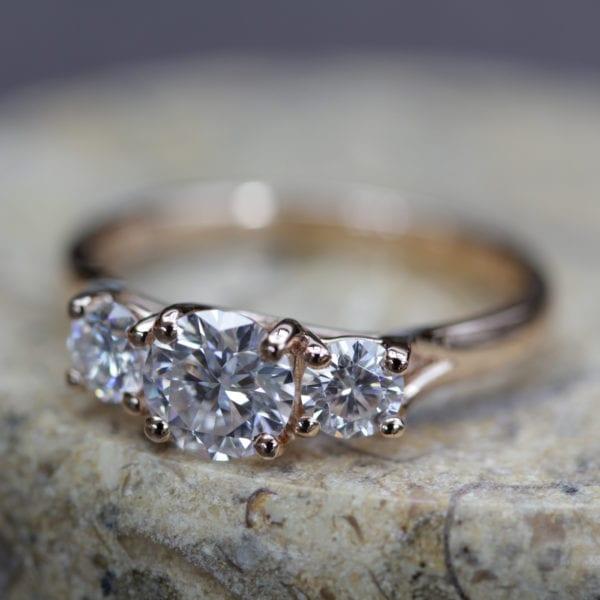 Eco Conscious Diamond Trilogy Ring - Cordelia