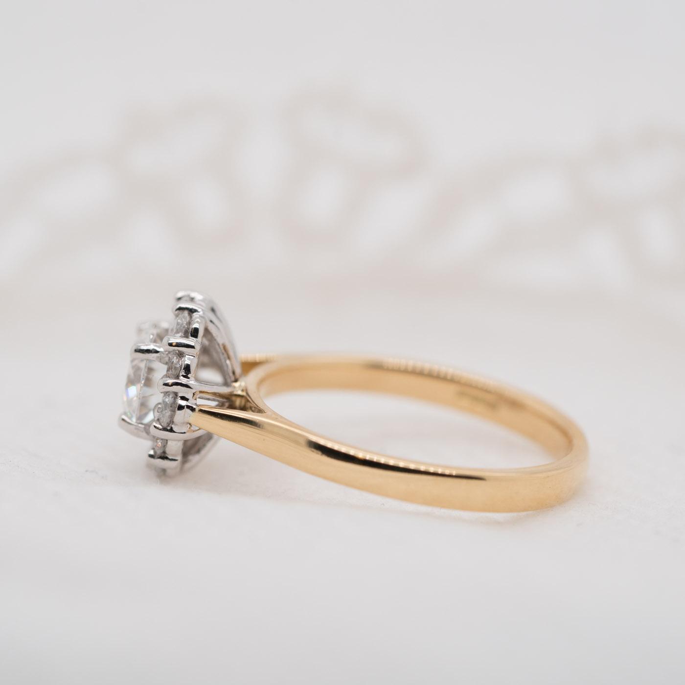Earth Friendly Diamond Alternative Ring   Dahlia   Ethica Diamonds UK