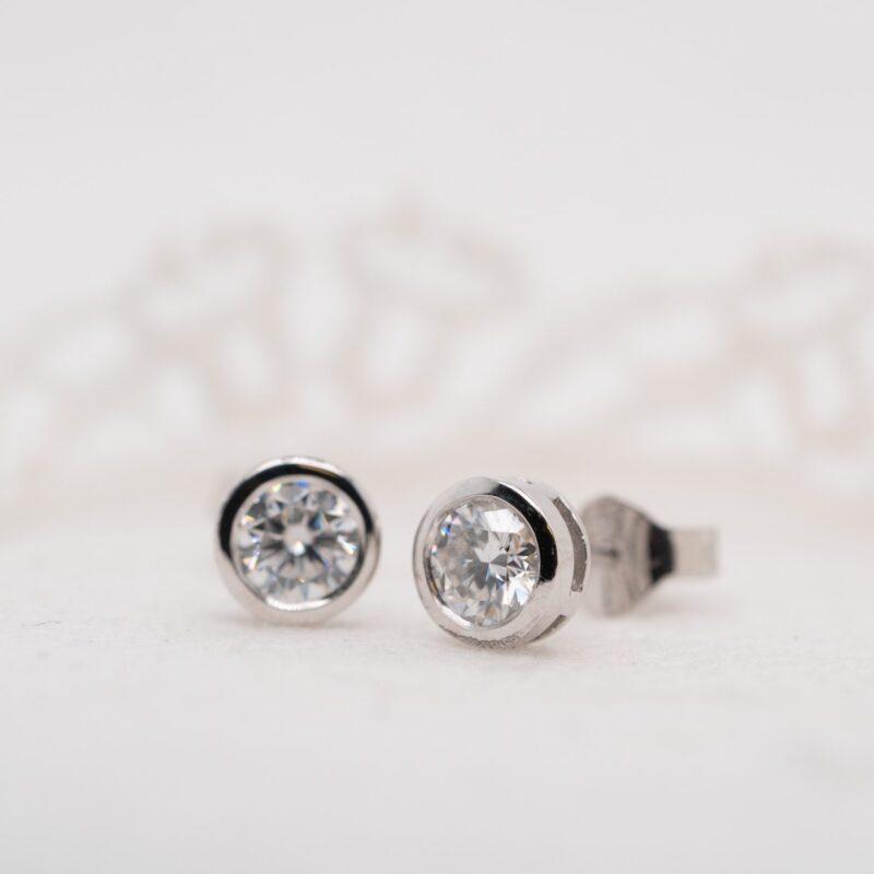 Diamond Alternative Earrings | Delaynie | Ethica Diamonds Cornwall