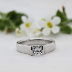 Sustainable Princess Cut Diamond Ring - Demi - Ethica Cornwall UK