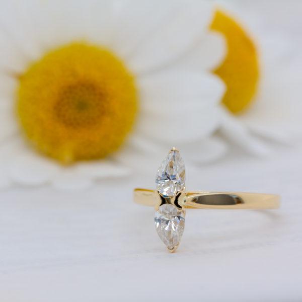 Unique Sustainable Diamond Ring - Diella - Ethica Diamonds Cornwall