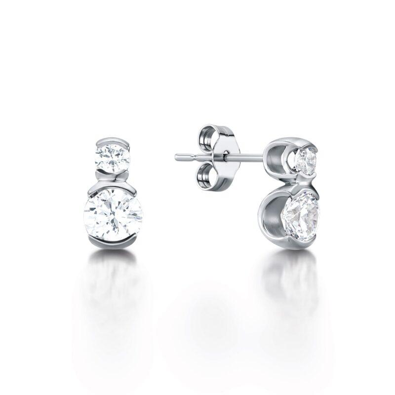 Eco Conscious Diamond Earrings - Belina