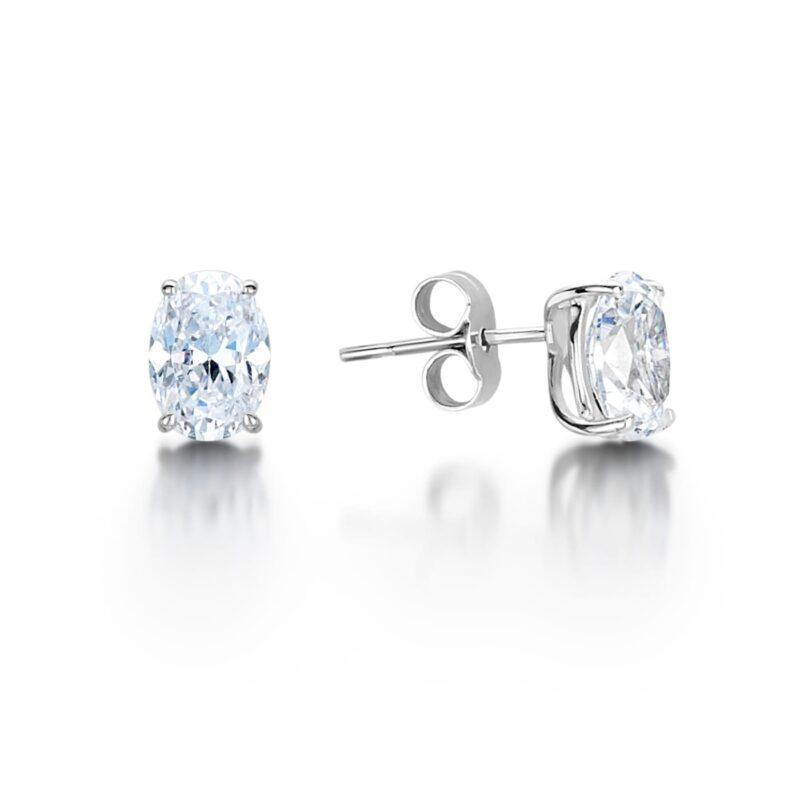 Earth Conscious Diamond Earrings - Calia, Ethical Diamond Oval Cut Earrings - Calia