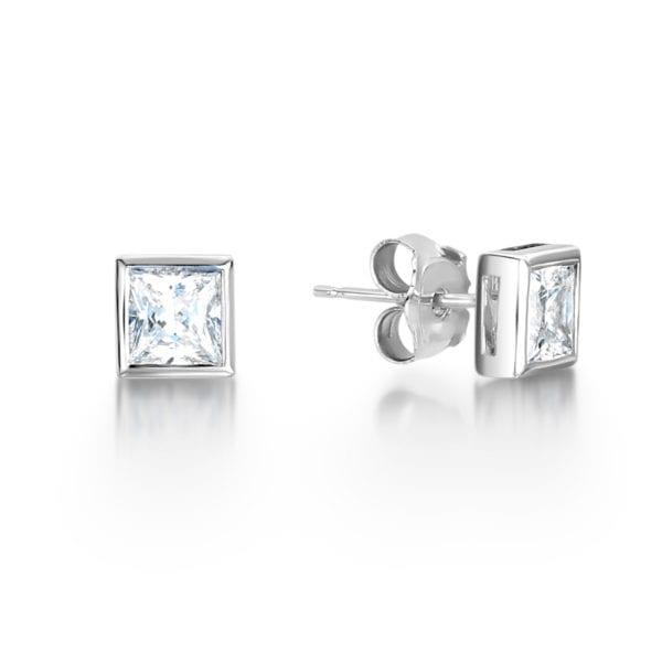 Conflict Free Diamond Earrings - Cinda