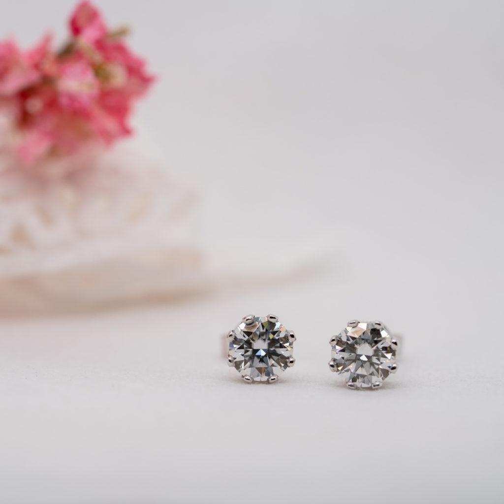 Earth Friendly Diamond Earrings - Diandra - Ethica Diamonds Cornwall