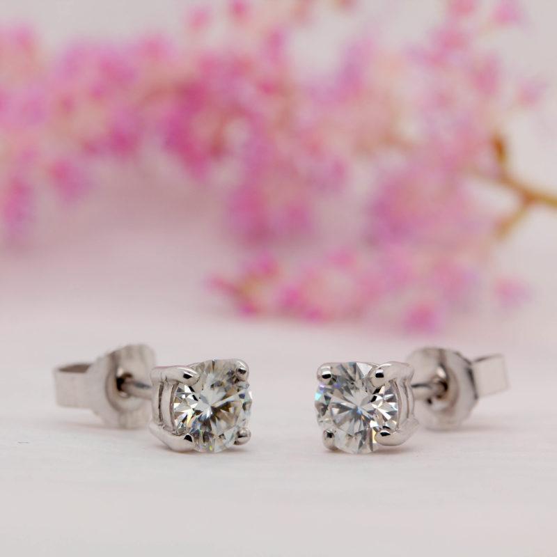 Environmentally Friendly Diamond Earrings, Ethically Sourced Diamond Earrings - Echo - Ethica Diamonds