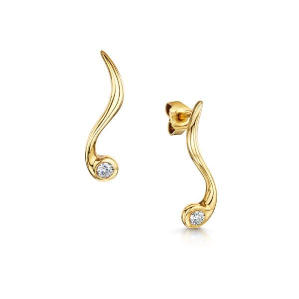 Vegan Friendly Diamond Earrings - Elowen