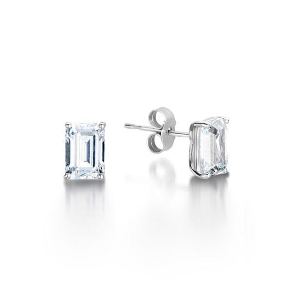 Simple Ethical Lab Grown Diamond Earrings - Hebe, Ethically Sourced Diamond Earrings - Hebe