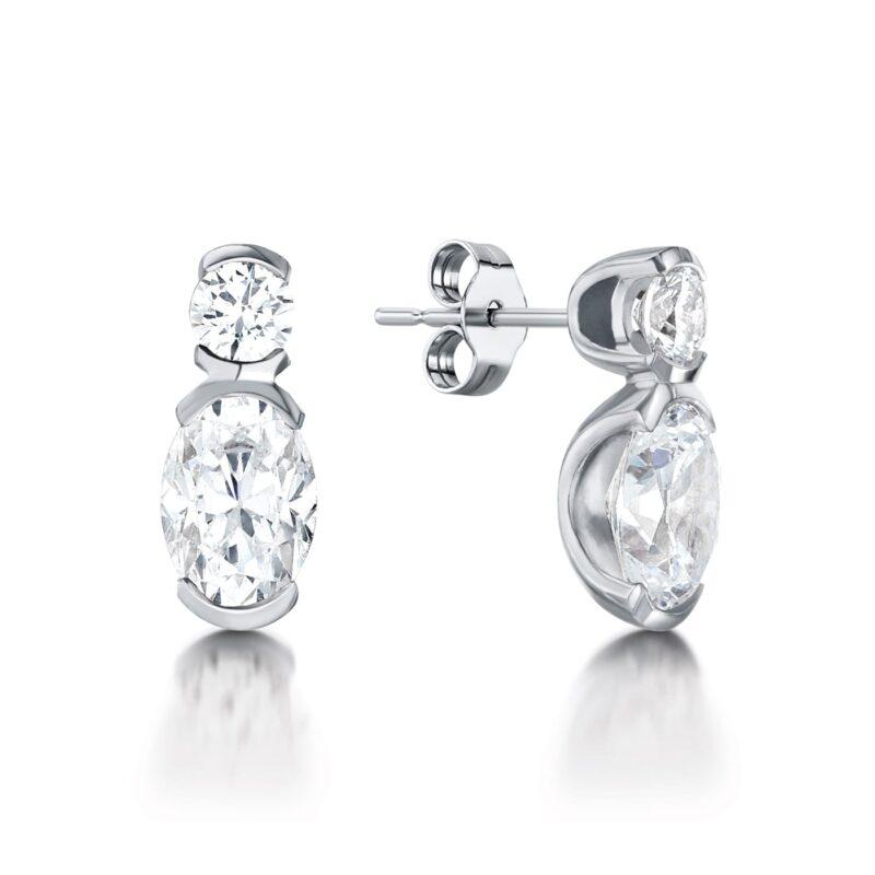 Lab Created Diamond Earrings - Josephina