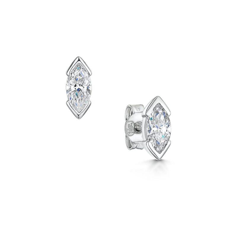 Unique Marquise Cut Diamond Earrings - Kiki