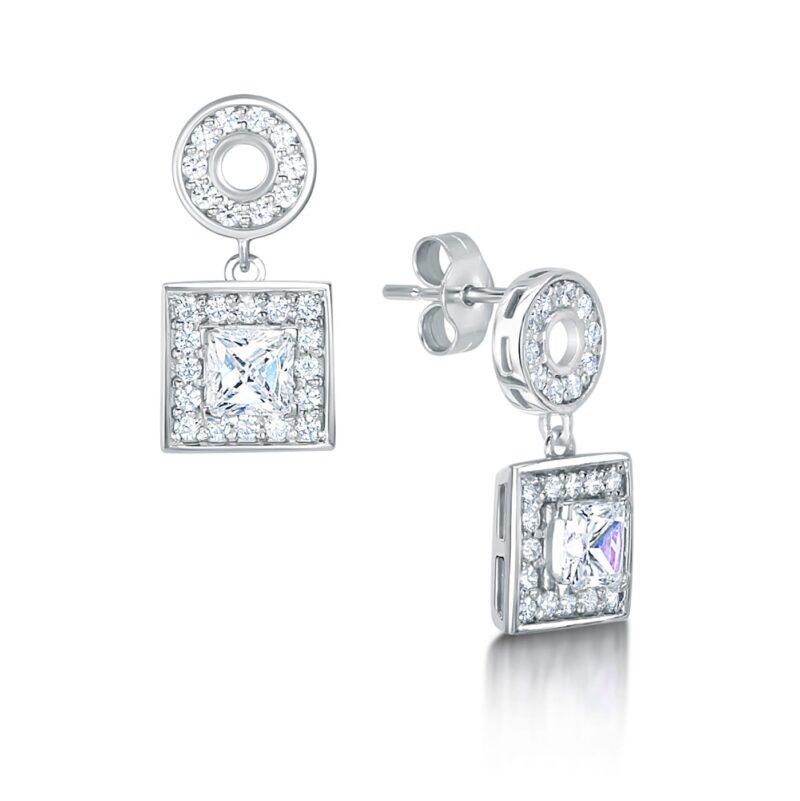 Man-Made Princess Diamond Earrings - Lola