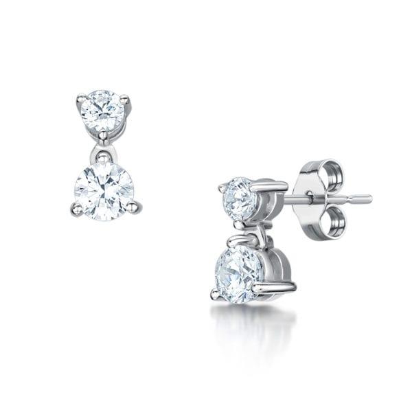 Ethical drop earrings - Maia | Ethica Diamonds, Eco Conscious Diamond Earrings - Maia
