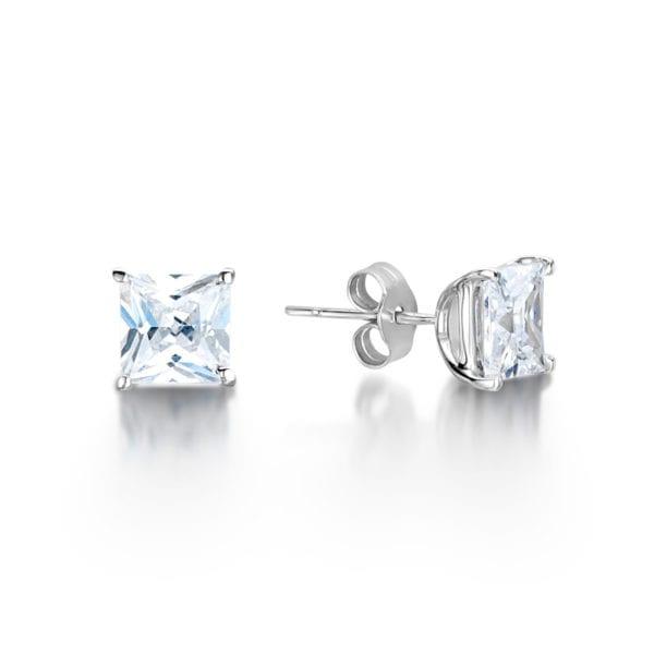 Eco Conscious Diamond Princess Earrings - Mei