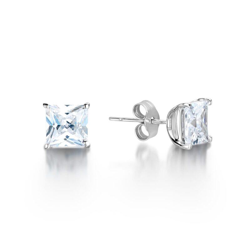 Eco Friendly Diamond Princess Earrings - Mei