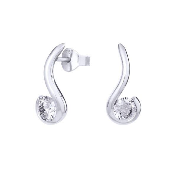 Nautical Ethical Diamond Earrings - Orla | Ethica Diamonds UK, Synthetic Diamond Earrings - Orla