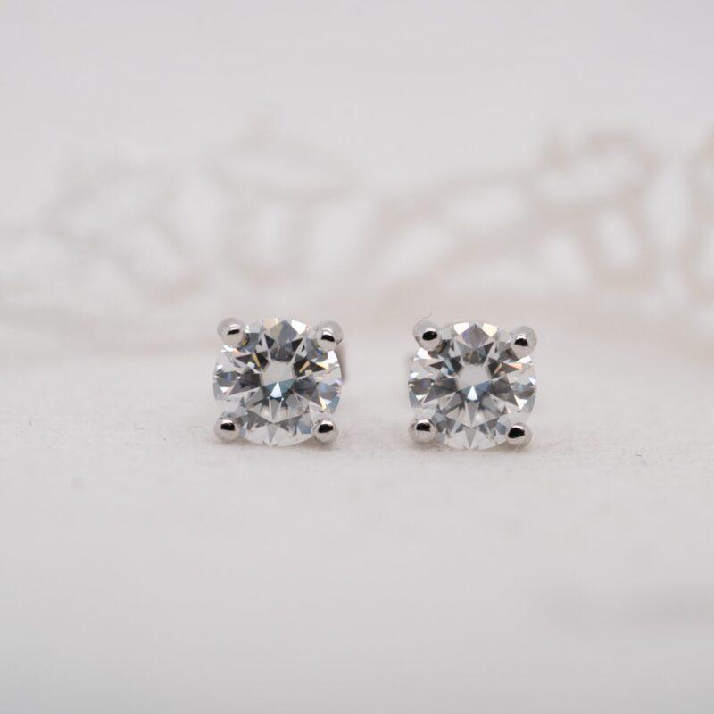 Ethically Sourced Diamond Alternative Earrings | Echo | Ethica Diamonds