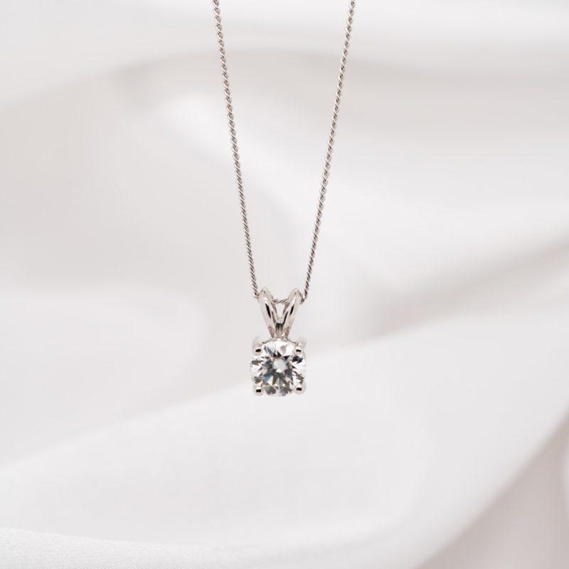 Earth Friendly Diamond Pendant | Echo | Ethica Diamonds Cornwall UK