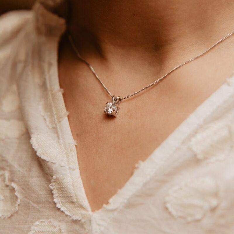 Elegant Pure Diamond Pendant | Echo | Ethica Diamonds Cornwall UK