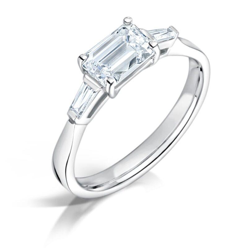Sustainable Emerald Diamond Ring - Eden