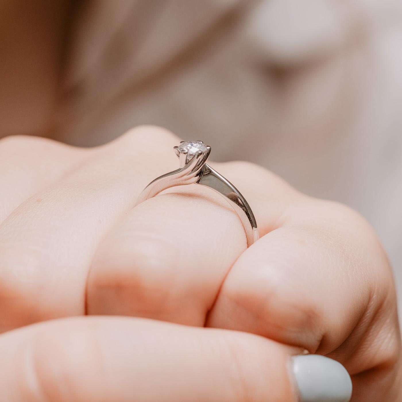 Sustainable Solitaire Engagement Ring   Eleos   Ethica Diamonds UK