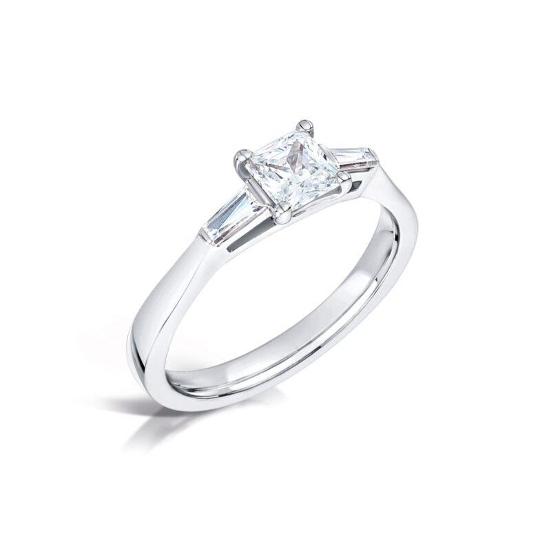 Eco Conscious Diamond Princess Ring - Ella