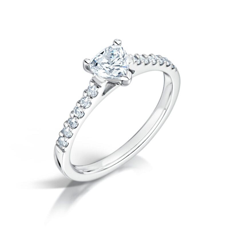 Unique Sustainable Heart Cut Diamond Ring - Eloise