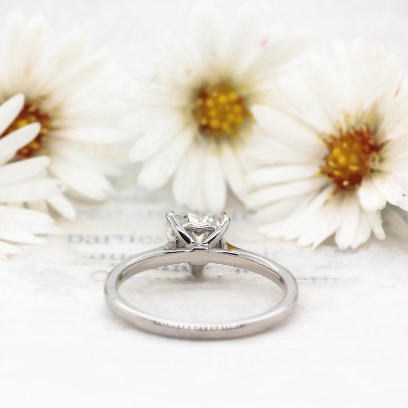 Ethical Heart Diamond Ring - Elska - Ethica Diamonds Cornwall UK