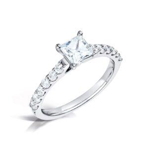 o Conscious Princess Diamond Engagement Ring - Estella