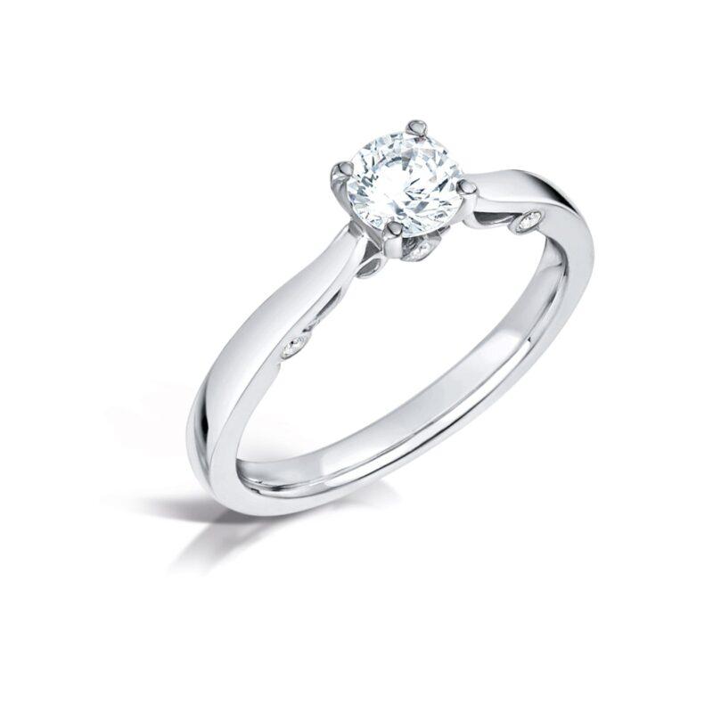 Vintage Solitaire Engagement Ring   Evangeline   Ethica Diamonds