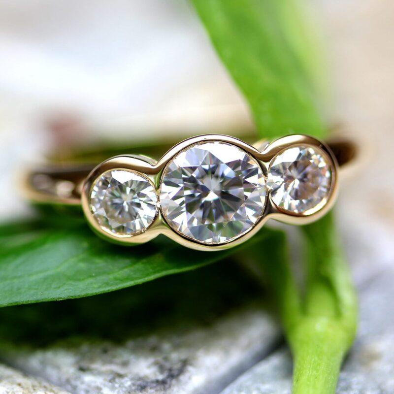 Man Made Diamond Trilogy Ring - Faye