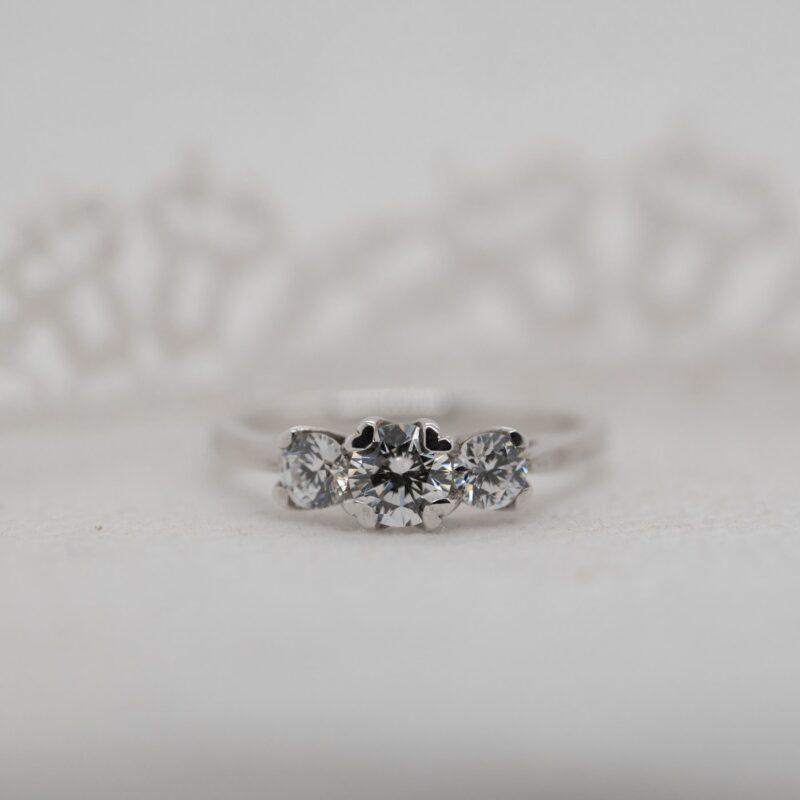 Diamond Alternative Trilogy Ring   Felicia   Ethica Diamonds