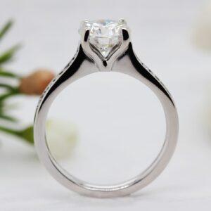 Shoulder Set Sustainable Diamond Engagement Ring - Harmonie - Ethica