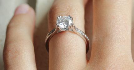 ethical shoulder set engagement ring